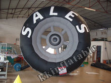 hot sell inflatable tires model, inflatable custom shape