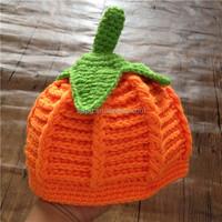 Crochet Orange Pumpkin Hat for Baby