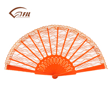High quality party decorations wedding gift plastic lace fan for sale