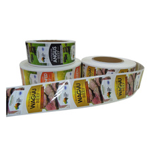 Rectangular Rounded Corners Adhesive Color Printed Food Container Labels