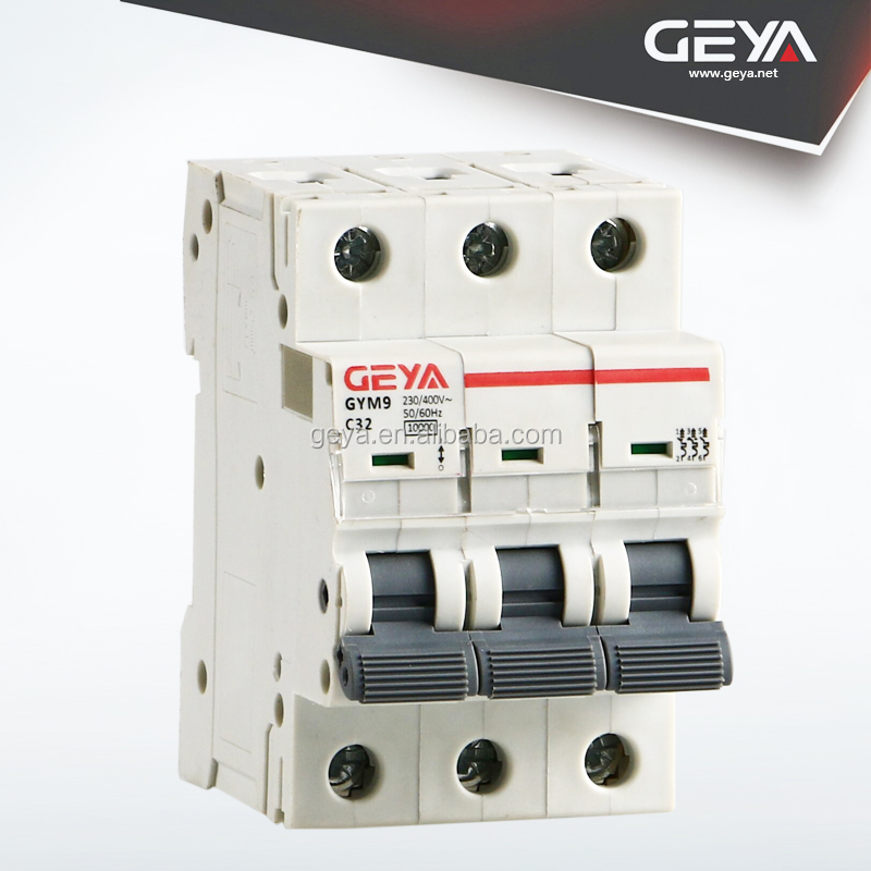 NEW C60N 6A16A25A32A63amp 6KA 10KA 230/400V MCB GYM9 Series good price mcb switch electrical breakers C60 mini