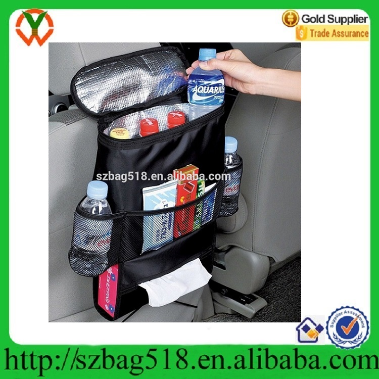 Heavy duty car auto truck organizer car seat hang organizer with cooler bag