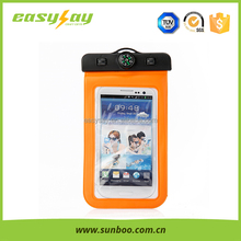 Custom logo printed waterproof cell phone covers, mobile phone waterproof case for swimming