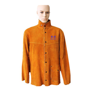 Safety suit pure leather welding jacket from workplace safety suppliers in China