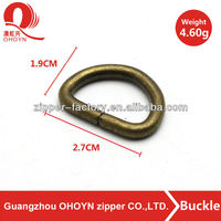 classical metal anti brass ring for bags