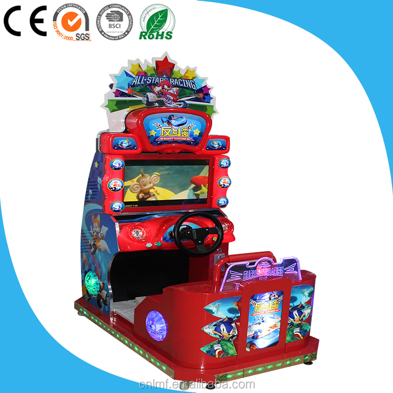 electronic indoor coin operated simulator kids hot sale sonic arcade speed drive 4 car racing games for boys machine