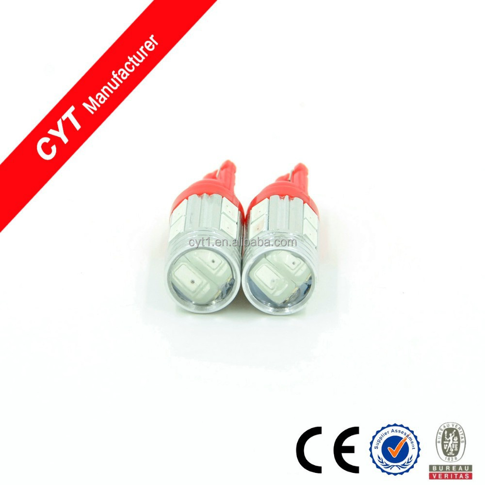 T10 2.5W Red Led Auto Tail Lamp Signal Light