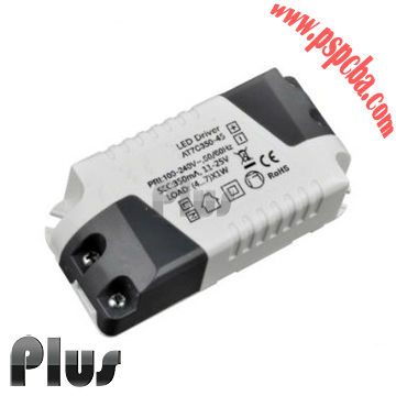 Isolation led driver factory SAA CE TUV CB led down lights constant current 5w led driver housing led display driver