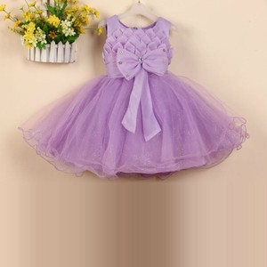 Princess clothes for 2-8 age girl party dress elegant flower summer wear L608