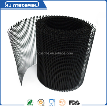 Teflon/PTFE coated fiberglass open mesh conveyor belt used for UV dryer /4*4mm