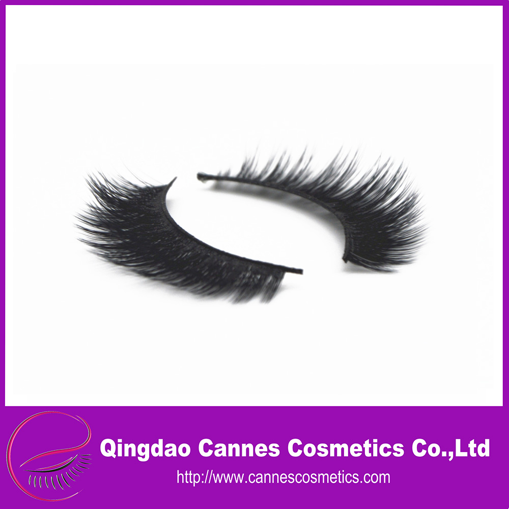 private label custom packaging 3d synthetic silk eyelashes