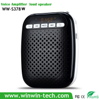 Digital Portable Voice Amplifier class a high end amplifier Fashionable waist hanging loudspeaker with head type microphone