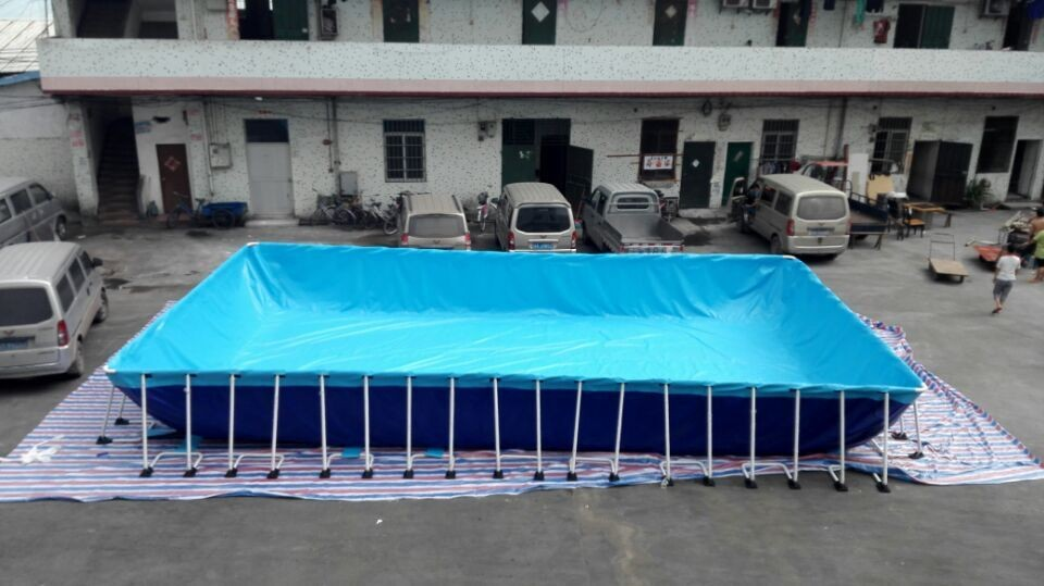 1.2mm PVC material swimming pool with metal frame for sale/used portable pool frames for sale