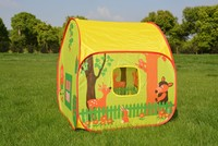 Pop Up Play Tent with 2 Doors and 2 Mesh Windows Cottage Play House Beach Shelter Garden Grassland Tent