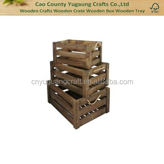 Cheap shbby chic wooden fruit crate for sale vintage wooden crate wholesale