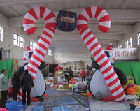 Christmas entrance arch/5m*5m/penguin/inflatable/entrance arch christmas/arch entrance christmas W191