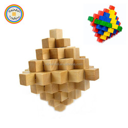 YHHM150 RDT Large Size Adult Intellectual Interlocked Wood Toys in Original Wood Color Kids Colorful Pineapple Wood Ball Toys
