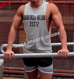 mens workout vest fitness muscle gym tank top sleeveless tee