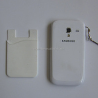 Promotion Silicone Card Wallet,Smartphone Mobile Phone Card Pouch,Hot Sale All Around The World