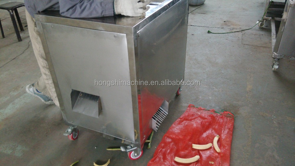 Stainless steel green banana peeling machine