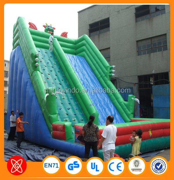 Henan Windo manufacturer double lane water slide inflatable slip and slide