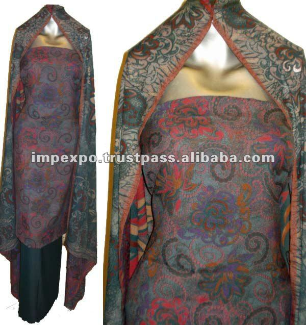 Ladies Printed Marina Suit with Shawl