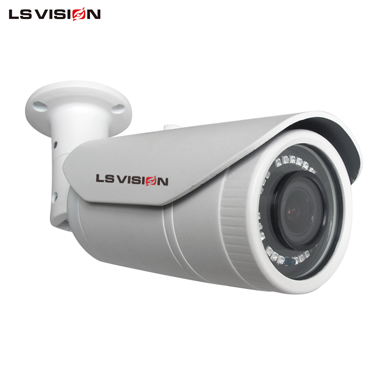 LS VISION Hisilicon DSP Onvif2.4 P2P Cheap 4MP IP Bullet Security Camera for Home safety