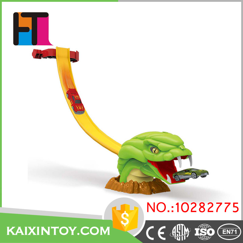 funny slot toys scare animal mouth design alloy magic toy car for custom