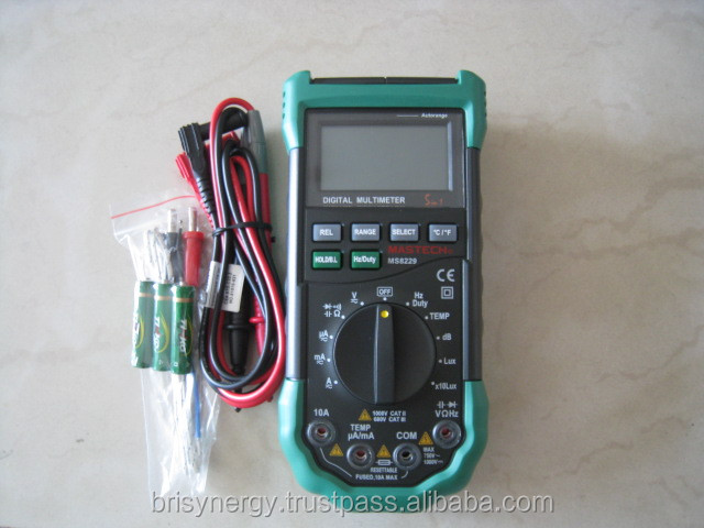 Mastech Measuring Instrument MS8229 Mastech Auto-Range 5-in-1 Multi-functional Digital Multimeter