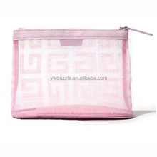 2015 wholesales personalized cute fashion mesh cosmetic pouch walmart for travel