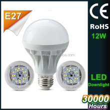 3w 5w 7w 9w 12w 15w plastic aluminum led bulb, 12w led light bulb e27, 180 degree 12w e27 led bulbs