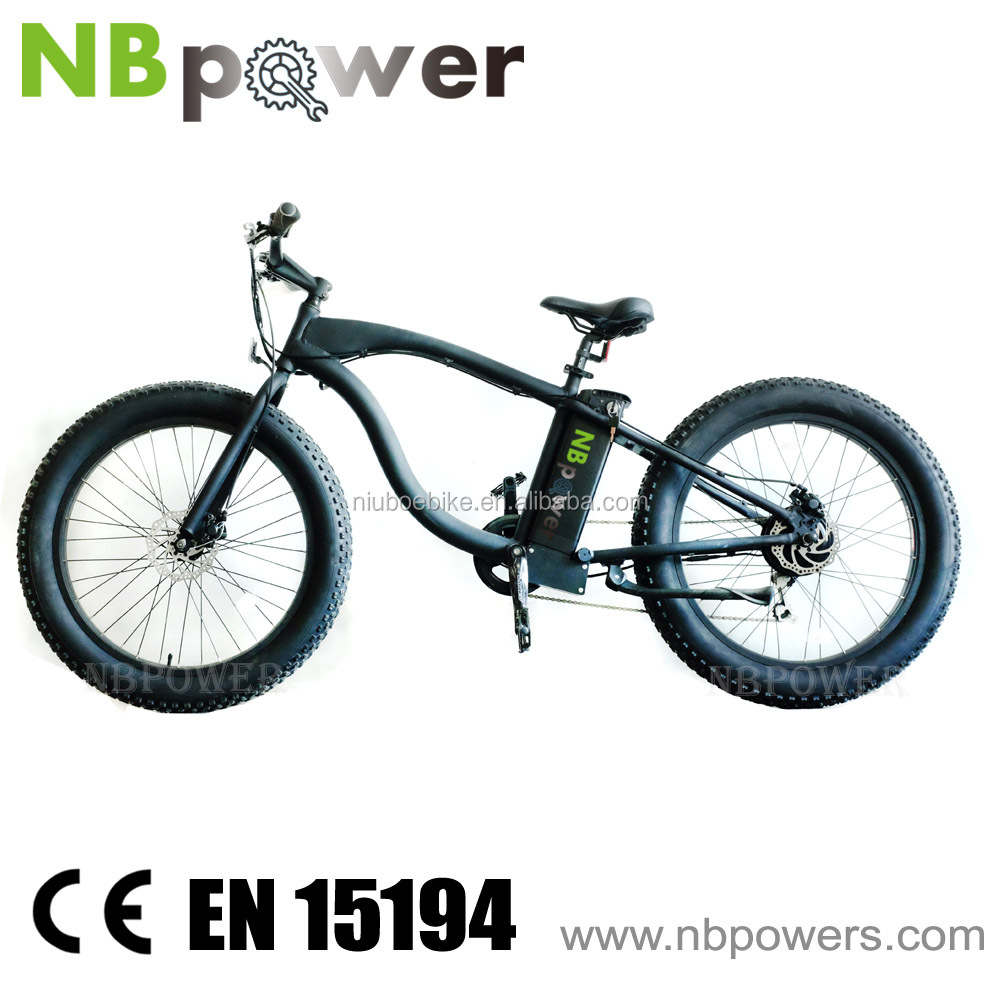 48V voltage and burshlessa motor green power beach e bike with assisted system