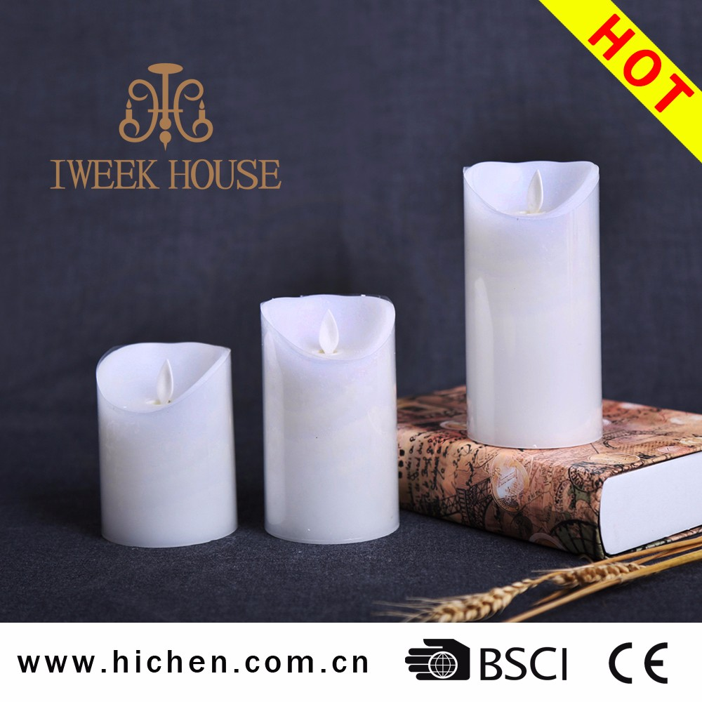Paraffin wax LED moving wick candle with CE and ROHS certificate for church