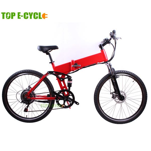 TOP E-cycle hidden battery folding electric mountain bike
