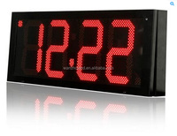 outdoor 6 inches led time and temperature signs/display/panel/board