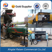 100 meters diesel motor automatic sand concrete pump machine/cement grout spraying pump