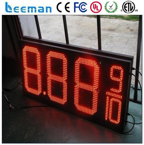 outdoor led timer led advertising hoarding gas price leds