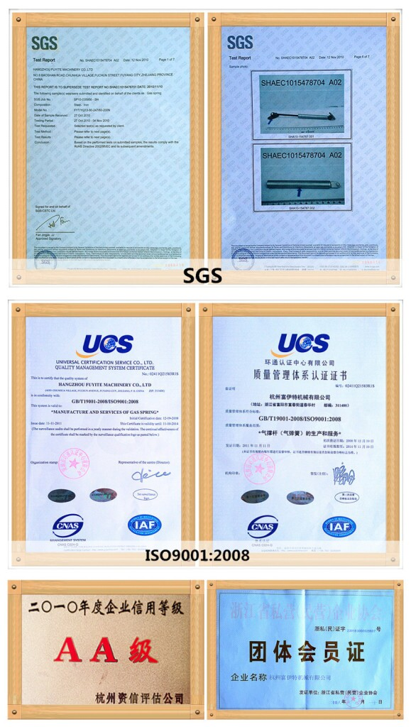 High quality compression gas lift for Engine(ISO9001:2008)