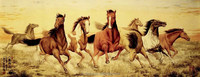 Eco-friendly Chinese Animal Decoration Chinese Painting Wall Mural Chinese Horses Home Decor