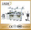 (SBM-240) 2-station full automatic die cutting hot foil stamping machine for paper label, roll film die cutter with bronzing