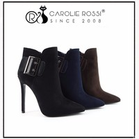 Ladies Shoe Manufacturer Malaysia Hot Sale High Heel Suede Boots