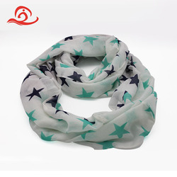 Custom Printed Plain Short Summer Star Bandana Scarf