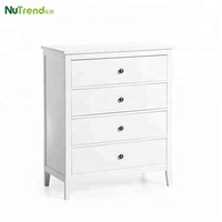 Wooden high grade 4 chest of drawers bedroom furniture image
