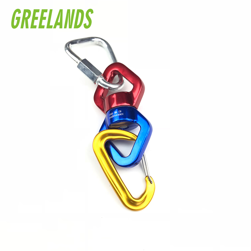 Tree Swing Swivel Spinner with 2 Carabiners 30KN for Aerial Silks, Swivel Snap <strong>Hook</strong>