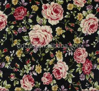 Hot Sale Rose Design 40S 100% Combed Cotton Poplin Print Fabric