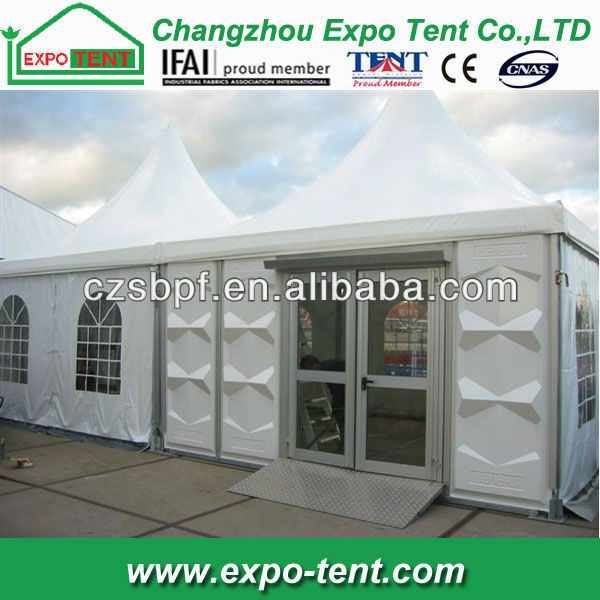 Outdoor pagoda abs solid wall tent