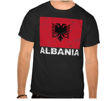 2016 custom Albania flag t-shirt 95% Cotton 5% Elastane for Gym