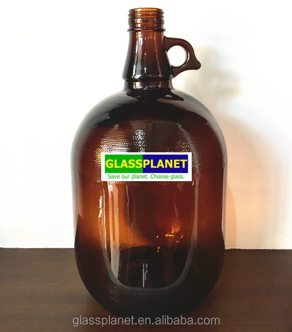 4 Liter Amber Glass Beer Growler