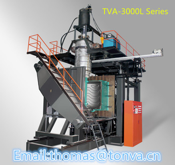 TVA-3000L series blow molding machine for IBC multilayer barrels and other large-sized plastic hollow products