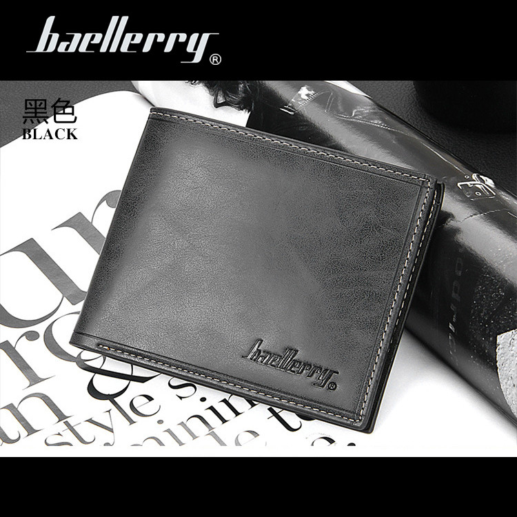 4 Colors Baellerry short men wallet male leather pocket